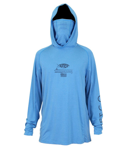 Aftco - Barracuda Geo Cool Hooded LS Performance Shirt