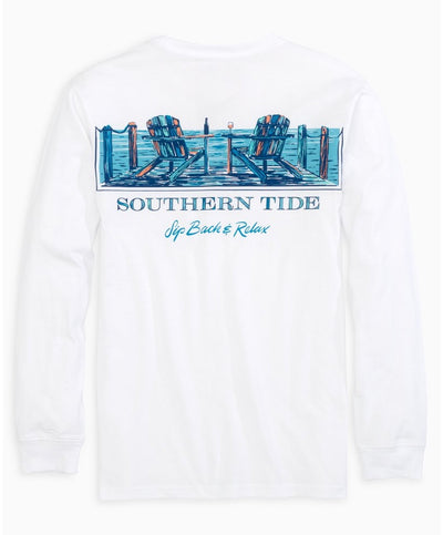 Southern Tide - Sip Back Long Sleeve Tee
