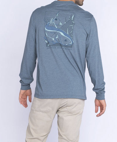 Southern Shirt Co - Blockprint Redfish Long Sleeve Tee
