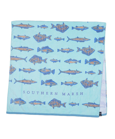 Southern Marsh - Riptide Beach Towel