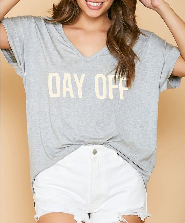 'Day Off' Graphic Top