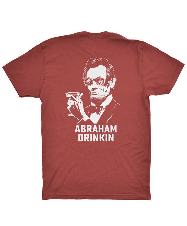 Rowdy Gentleman - Abraham Drinkin' Pocket Tee