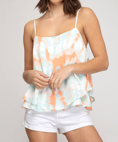 Good Vibes Tie Dye Cami Top