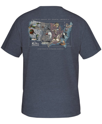 Drake - Flyway Species Map Tee