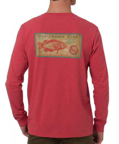 Southern Tide - Tackle & Bait Long Sleeve Tee - Antifouling Red