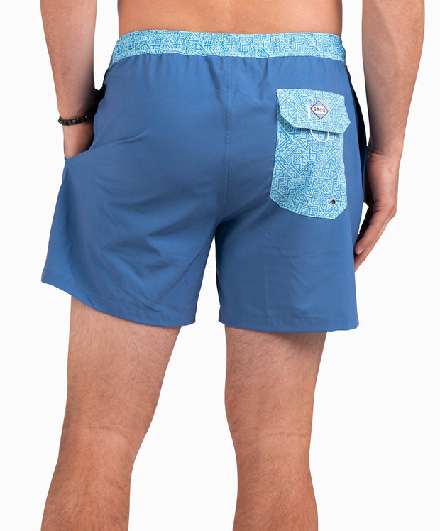 Southern Shirt Co - Blue Hawaiian Swim Shorts