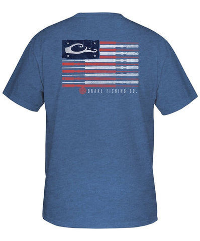 Drake - Fishing American Flag Tee