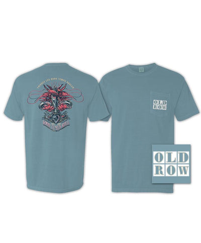 Old Row - Mardi Gras Crawfish Pocket Tee