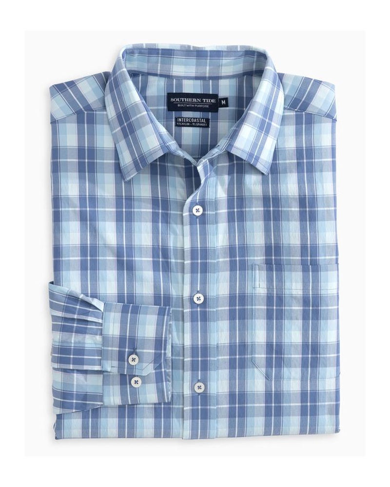Southern Tide - Mainstay Plaid IC Performance L/S Shirt