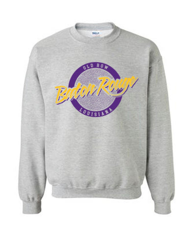 Old Row - Baton Rouge, Louisiana Circle Logo Crewneck Sweatshirt