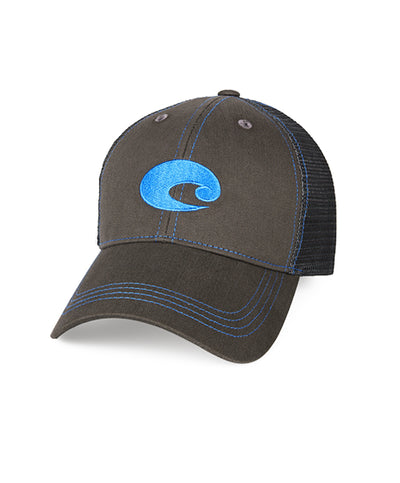 6370b66dc9d Costa - Neon Trucker Graphite Twill Hat