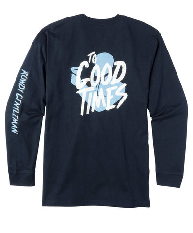 Rowdy Gentleman - Apres Ski Toasting Man Long Sleeve Pocket Tee
