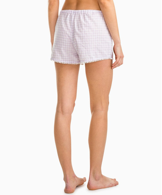 Southern Tide - Heathered Gingham Sleep Short