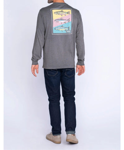 Southern Shirt Co - Tricolor Trout Long Sleeve Tee