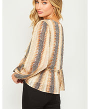 Sneak Away Snake Print Top