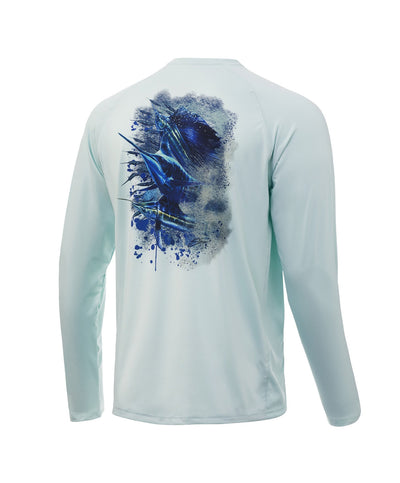 Huk - Pursuit Bill Fish Art Slam Long Sleeve