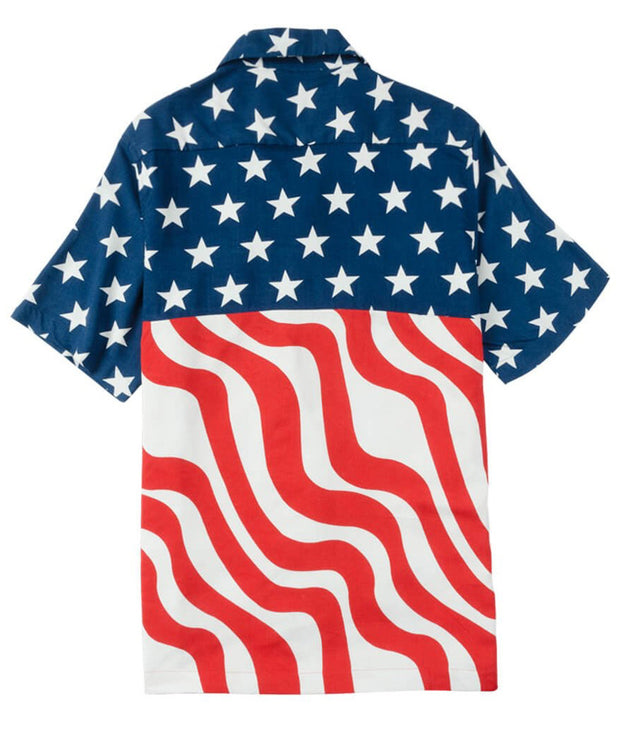 Rowdy Gentleman - Stars N Stripes Hawaiian Shirt