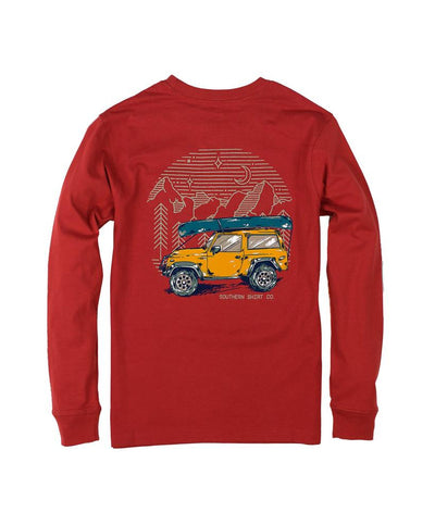 Southern Shirt Co - Youth Road Less Traveled Long Sleeve Tee