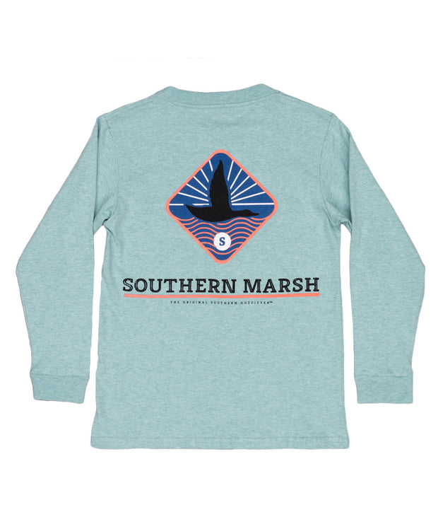 Southern Marsh - Youth Branding - Flying Duck Long Sleeve Tee