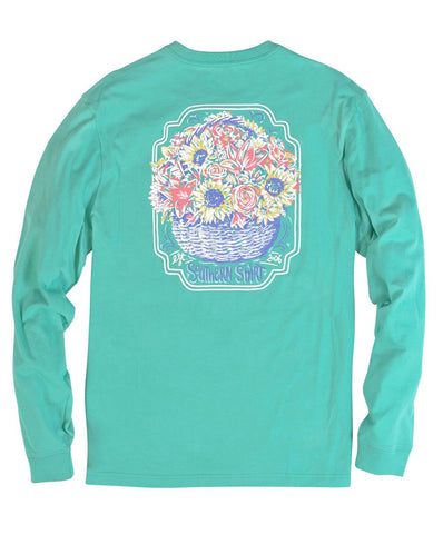Southern Shirt Co - Basket of Flowers Long Sleeve Tee