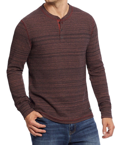 Flag & Anthem - Lorentz Space Dye Thermal Slub Long Sleeve Henley
