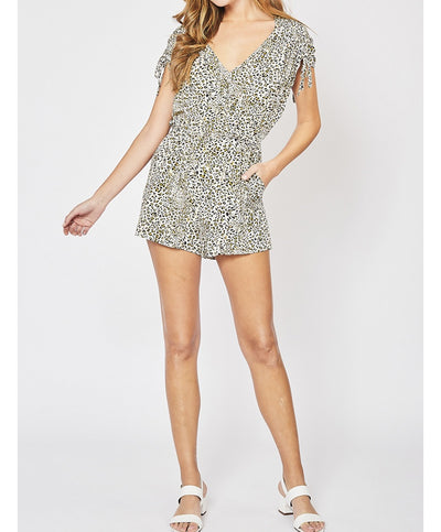 Wild Side Cheetah Print Romper