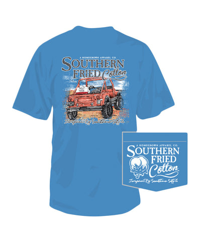 Southern Fried Cotton - Beach Cruisin Pocket Tee