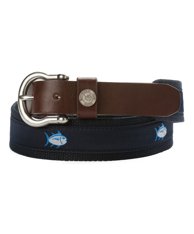 Southern Tide - Classic Skip Jack Canvas Belt - Navy