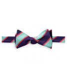 Southern Tide - Sea Stripe Bow Tie - Bermuda Teal