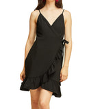 Entro - Wrap Ruffle Dress