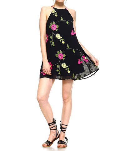 TCEC - CD8460 - Embroidered Floral Dress