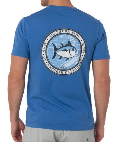 Southern Tide - Gulf Stream Tee - Over Sea Blue