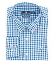 Southern Shirt Co - Lakeview Gingham Cotton Club Shirt Long Sleeve