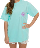 Southern Shirt Co. - Flower Logo Tee - Ocean Blue - Front