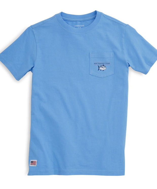 Southern Tide - Youth Independence Tee - Ocean Channel Front