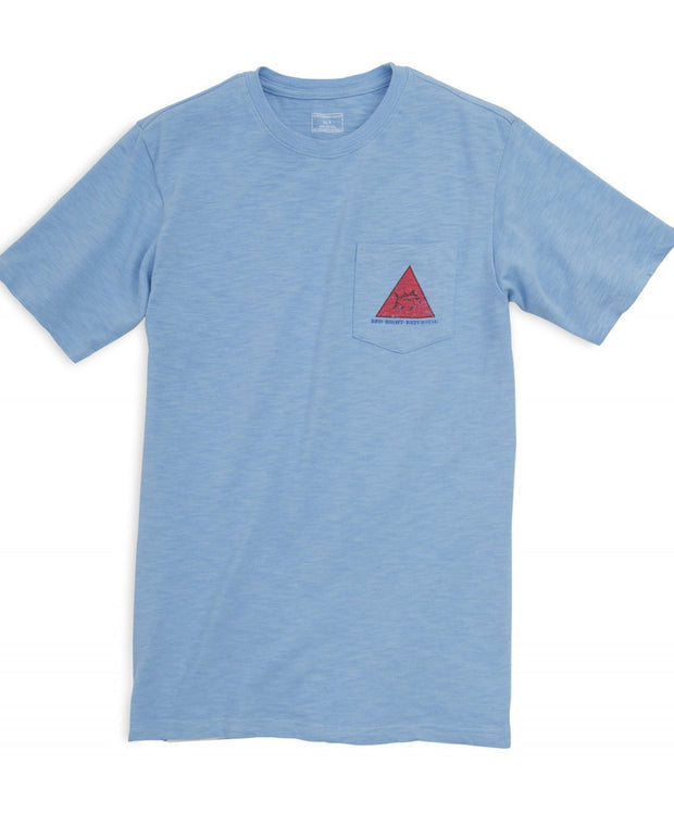 Southern Tide - Red Right Returning Tee - True Blue Front
