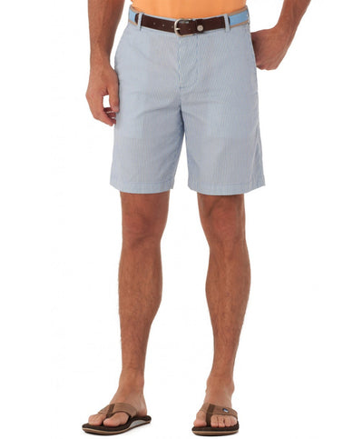 Southern Tide - Double Sided Seersucker Short - Ocean Channel