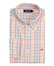 Southern Marsh - Sutton Plaid: Wrinkle Free - Navy/Orange