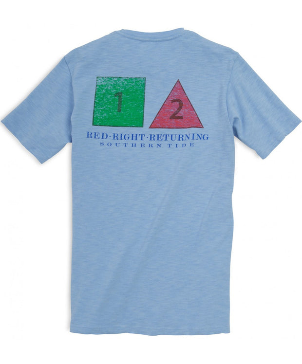 Southern Tide - Red Right Returning Tee - True Blue Back