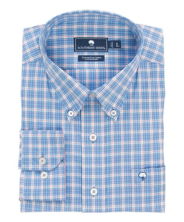 Southern Shirt Co - Galleon Plaid Cotton Club Shirt Long Sleeve