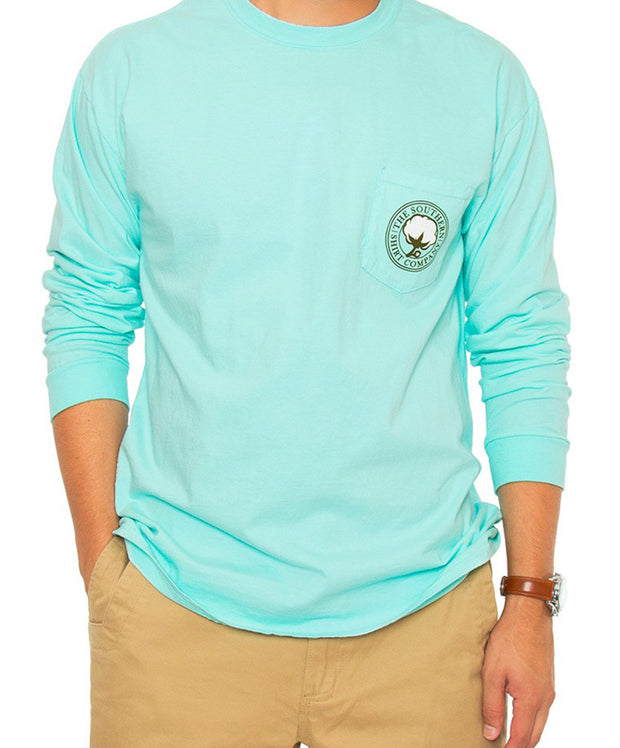 Southern Shirt Co. - Retriever Long Sleeve - Ocean Blue Front