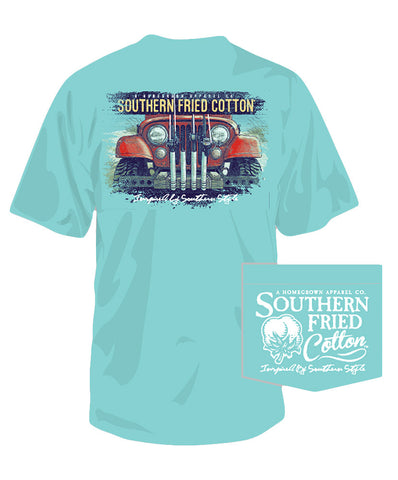 Southern Fried Cotton - Jeepin on the Coast Tee