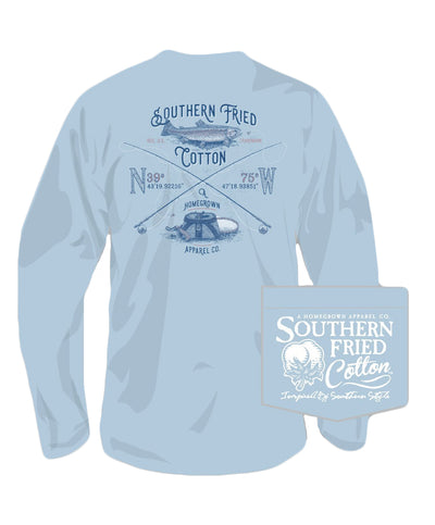 Southern Fried Cotton - Fresh Water Catch Long Sleeve Tee