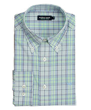 Southern Marsh - Sutton Plaid: Wrinkle Free - Navy/Green