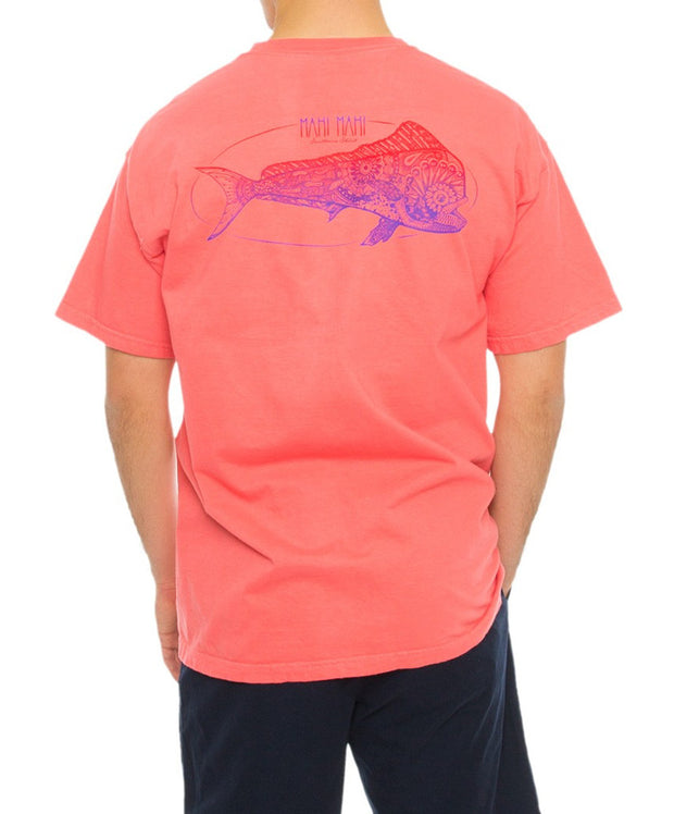 Southern Shirt Co. - Boho Mahi Tee - Sugar Coral Back