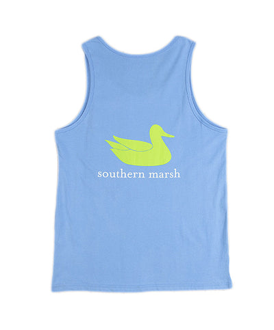 Southern Marsh - Authentic Tank Top - Breaker Blue - Back