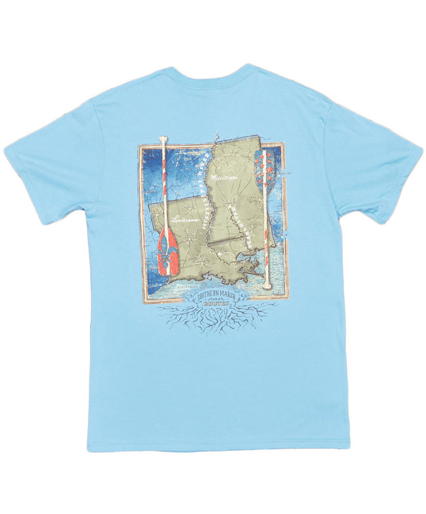Southern Marsh - River Routes Collection - Louisiana & Mississippi Tee