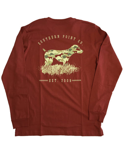 Southern Point - Signature L/S Tee Greyton Camo - Chillys Red