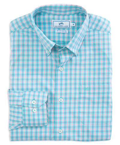 Southern Tide - Grand Turk Plaid Intercoastal Performance Long Sleeve Tee