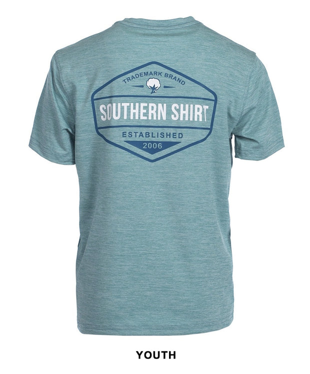Southern Shirt Co - Boys Trademark Badge Perf Tee